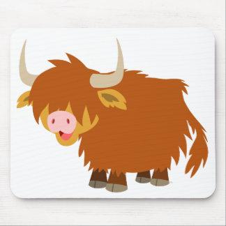 Cute Cartoon Highland Cow Mousepad