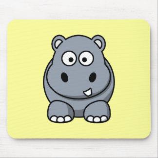 Cute Cartoon Hippo Mouse Pad