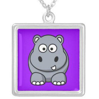 Cute Cartoon Hippo  Necklaces