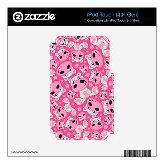 Cute Cartoon Hippo Pattern iPod Touch 4G Skins