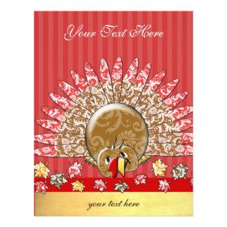 Cute Cartoon Holiday Turkey Flyer