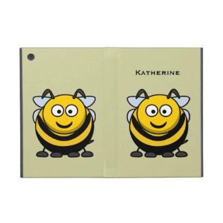 Cute Cartoon Honey Bumble Bee Optional Wording iPad Mini Cover