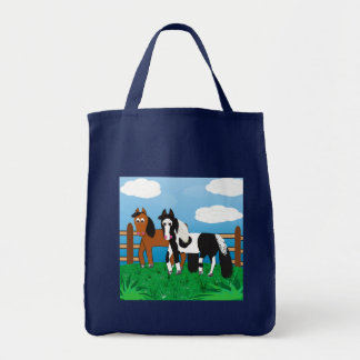 Cute Cartoon horse Tote Bag
