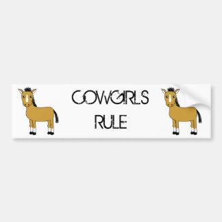 Cute Cartoon Horse Bumper Sticker