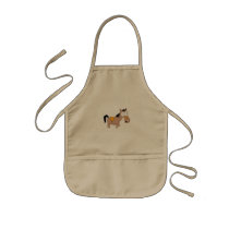 Cute cartoon horse kids' apron