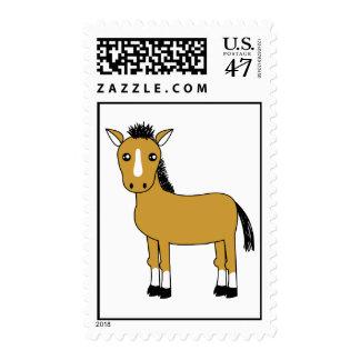 Cute Cartoon Horse Postage