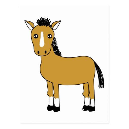 Cute Cartoon Horse Postcard