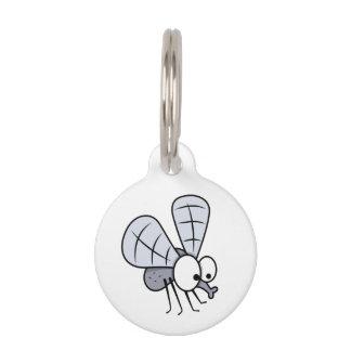 Cute Cartoon House Fly Pet Name Tags