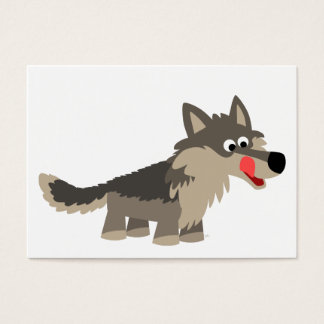 Cute Cartoon Hungry Wolf  ACEO/Business Card