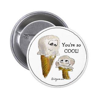 Cute Cartoon Ice Cream Cones Pin