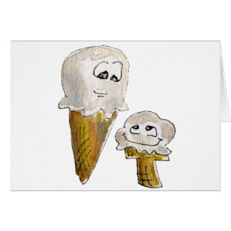 Cute Cartoon Ice Cream Cones Card