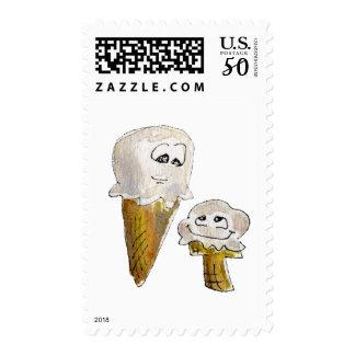 Cute Cartoon Ice Cream Cones Postage