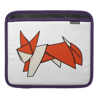Cute Cartoon Illustration Of A Origami Fox iPad Sleeve