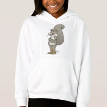 Cute cartoon illustration of a squirrel. hoodie