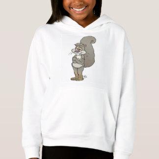 Cute cartoon illustration of a squirrel. hoodie