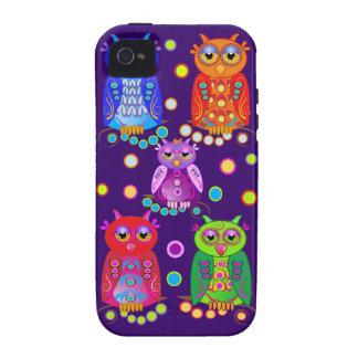 Cute Cartoon iPhone 4 Case-Mate Tough Deco Owls iPhone 4/4S Cases