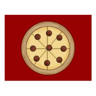 Cute Cartoon Italian Pizza Pie Delicious Meal Postcard
