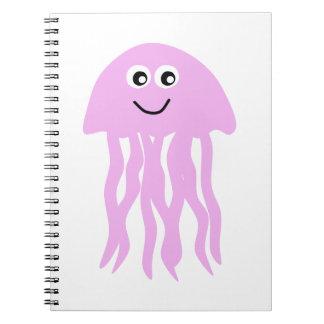 Cute Cartoon Jellyfish Spiral Note Book