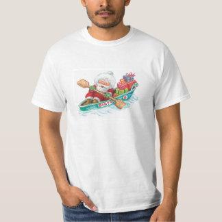 Cute Cartoon Jolly Santa Claus in a Row Boat T-Shirt
