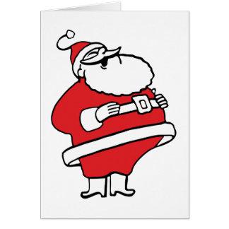 Cute Cartoon Jolly Santa Claus Laughing Ho Ho Ho Card