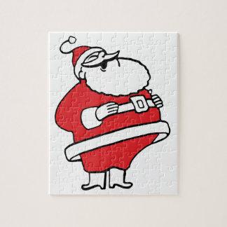 Cute Cartoon Jolly Santa Claus Laughing Ho Ho Ho Jigsaw Puzzle