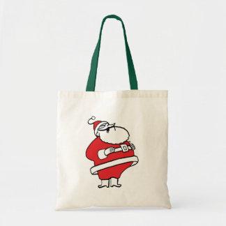 Cute Cartoon Jolly Santa Claus Laughing Ho Ho Ho Tote Bag