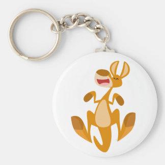 Cute Cartoon Jumping Kangaroo Keychain