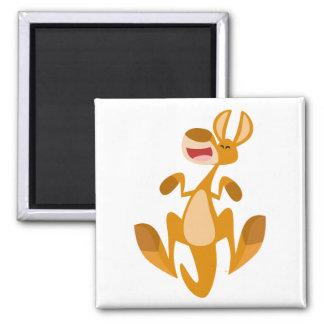 Cute Cartoon Jumping Kangaroo Magnet