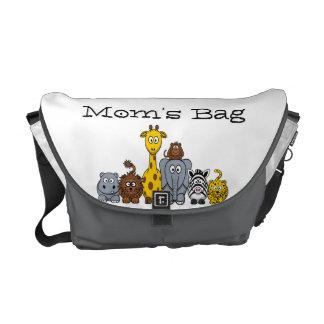 Cute Cartoon Jungle Animals Mom's Bag Courier Bags