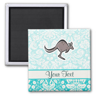 Cute Cartoon Kangaroo 2 Inch Square Magnet