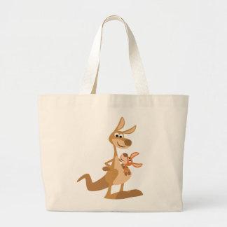 Cute Cartoon Kangaroo Mum and Joey Bag