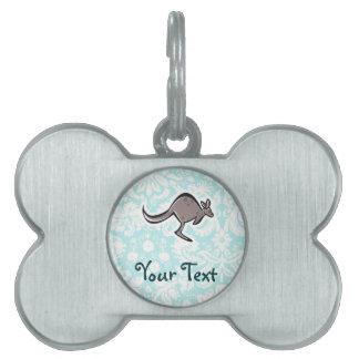Cute Cartoon Kangaroo Pet ID Tag