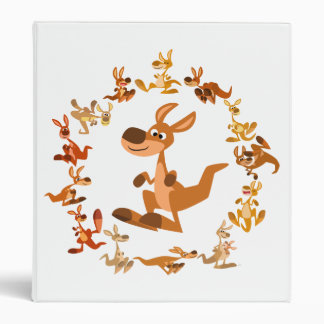 Cute Cartoon Kangaroos Mandala Avery Binder
