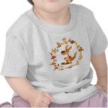 Cute Cartoon Kangaroos Mandala Baby T-Shirt