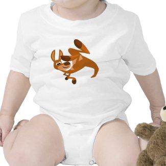 Cute Cartoon Kangaroo's Somersault Baby Onesie shirt