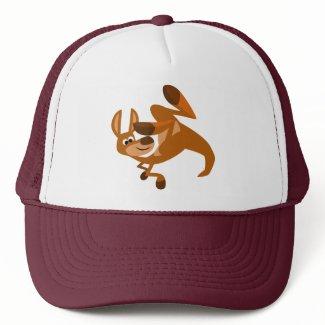 Cute Cartoon Kangaroo's Somersault Hat hat