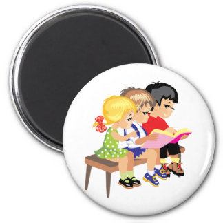 Cute Cartoon Kids Preschool schooling education Magnet