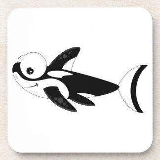 Cute Cartoon Killer Whale Beverage Coaster
