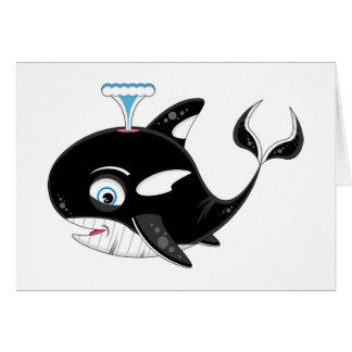 Cute Cartoon Killer Whale Card