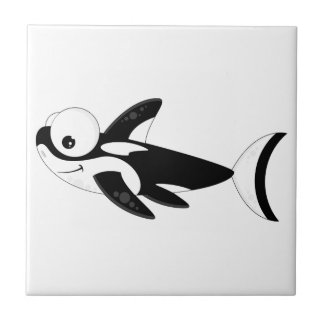 Cute Cartoon Killer Whale Ceramic Tile