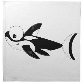 Cute Cartoon Killer Whale Cloth Napkin