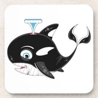 Cute Cartoon Killer Whale Coaster