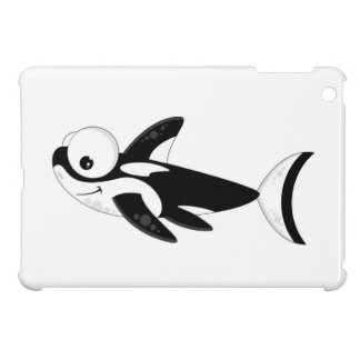Cute Cartoon Killer Whale iPad Mini Case