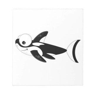 Cute Cartoon Killer Whale Notepad