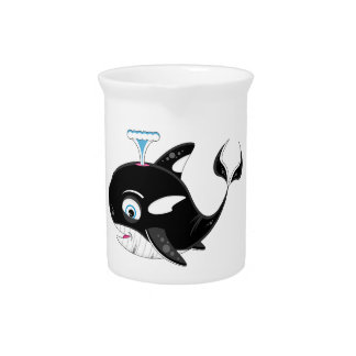 Cute Cartoon Killer Whale Beverage Pitchers