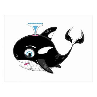 Cute Cartoon Killer Whale Postcard