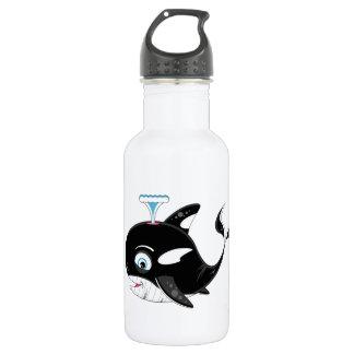 Cute Cartoon Killer Whale Stainless Steel Water Bottle
