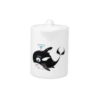 Cute Cartoon Killer Whale Teapot
