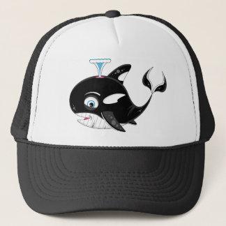 Cute Cartoon Killer Whale Trucker Hat