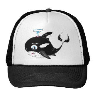 Cute Cartoon Killer Whale Trucker Hat